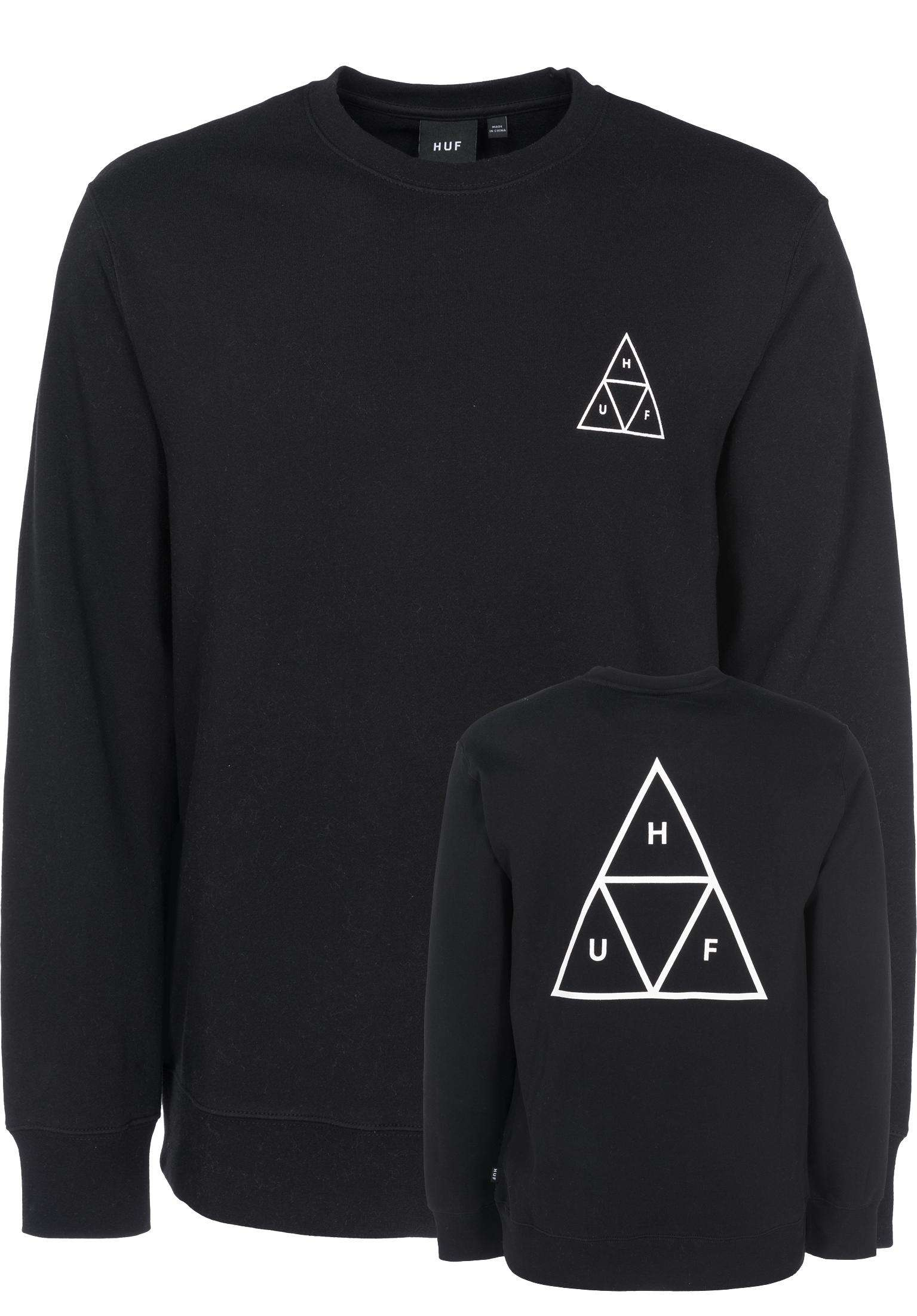 4bfacbb924a3f Triple Triangle HUF Sweaters and Sweatshirts in black for Men | Titus