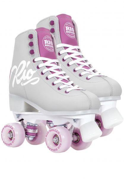 Rio Roller Alle Schuhe Script Rollschuhe / Rollerskates grey-purple vorderansicht 0612554