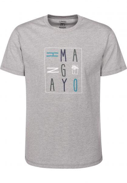 Mahagony T-Shirts Square grey Vorderansicht