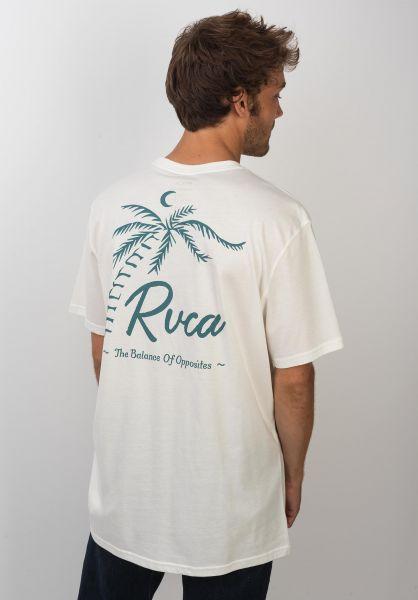 RVCA T-Shirts Tropicale antiquewhite vorderansicht 0320143
