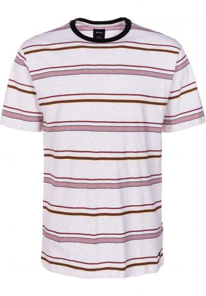 RVCA T-Shirts Avila Stripe antiquewhite vorderansicht 0399889