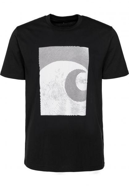 Carhartt WIP T-Shirts Circles black-white Vorderansicht