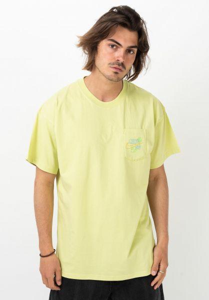 Nike SB T-Shirts Paradise Pocket limelight vorderansicht 0321679