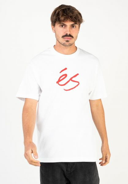 ES T-Shirts Script white vorderansicht 0321860