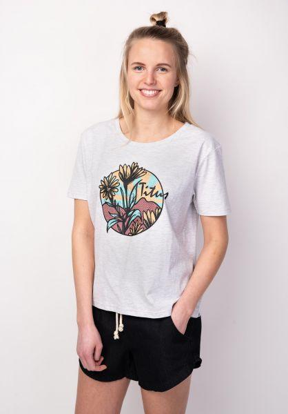 TITUS T-Shirts Flowers lightheathergrey vorderansicht 0398501
