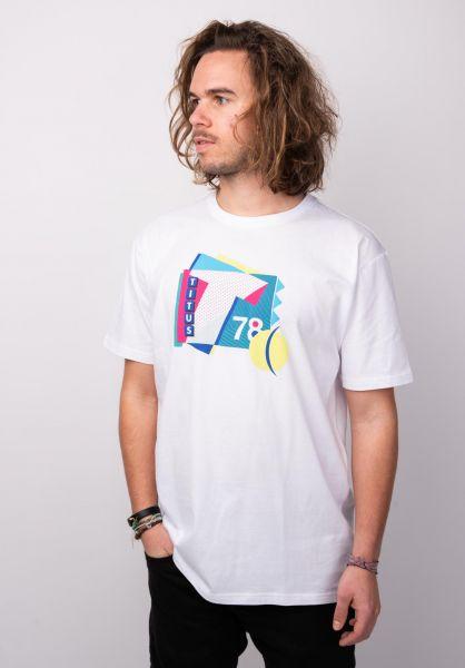 TITUS T-Shirts Court white vorderansicht 0398382
