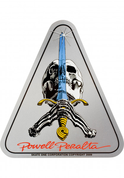 Powell-Peralta Verschiedenes Skull & Sword Sticker no color Vorderansicht