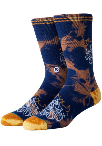 Stance Socken Flora Flame navy vorderansicht 0631879