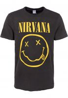 amplified-t-shirts-nirvana-smiley-charcoal-vorderansicht