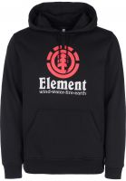 Element Hoodies Vertical flintblack-red Vorderansicht