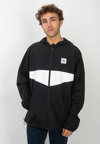 adidas-skateboarding Übergangsjacken Dekum Packable black-white vorderansicht 0504395