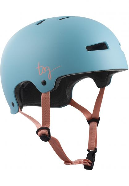 TSG Helme Evolution Women Solid Color satin porcelain blue Vorderansicht