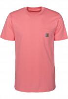 Carhartt WIP T-Shirts Pocket guava Vorderansicht