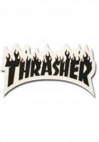 Thrasher-Verschiedenes-Flame-Sticker-Small-black-Vorderansicht