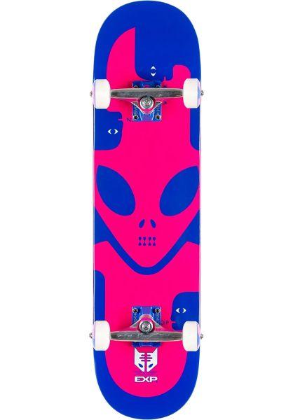 Alien-Workshop Skateboard komplett EXP blue-pink vorderansicht 0162746