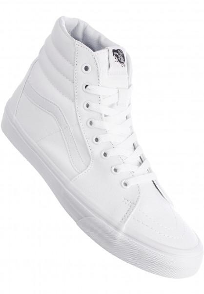 Vans Alle Schuhe Sk8-Hi white-white Vorderansicht