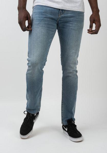 Carhartt WIP Jeans Rebel Pant bluewornbleached vorderansicht 0269055