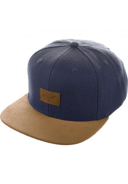 Reell Caps Suede Cap navy vorderansicht 0563718