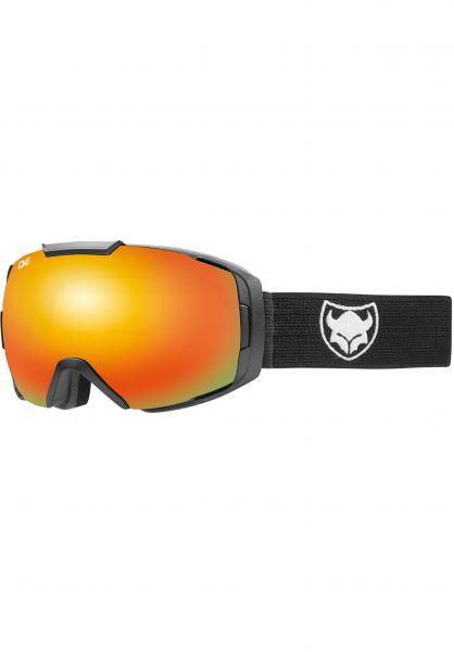 TSG Snowboard-Brille Goggle One solid black-red chrome Vorderansicht 0340120