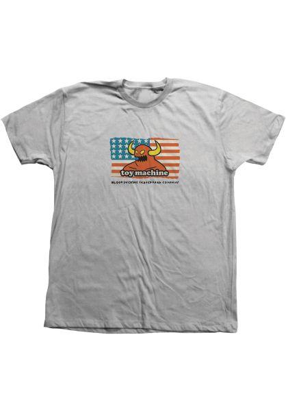 Toy-Machine T-Shirts American Monster V2 silver vorderansicht 0321587