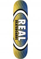 Real Skateboard Decks Parallel Fade Oval yellow-blue Vorderansicht