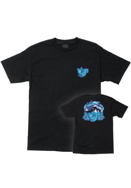 OJ Wheels T-Shirts Killer Whale S/S black vorderansicht 0321926