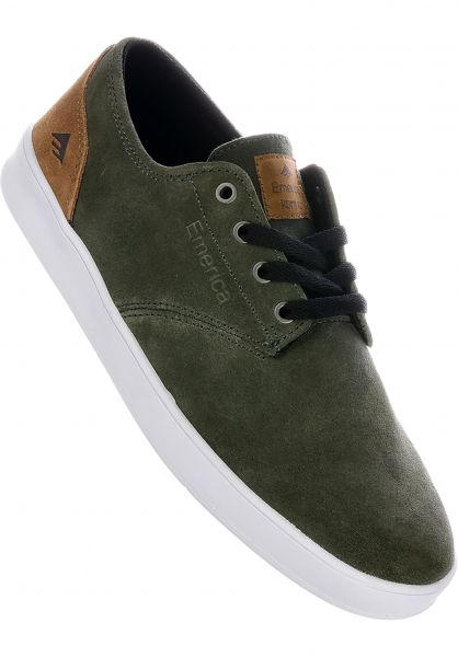 Emerica Alle Schuhe Romero Laced olive-tan vorderansicht 0604456