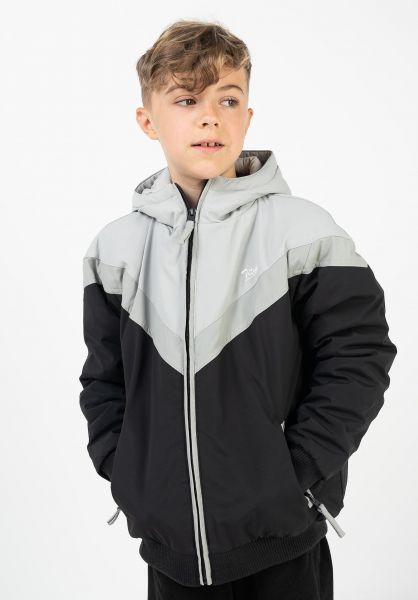 TITUS Winterjacken Bruce Kids black-darkgrey-grey vorderansicht 0250052