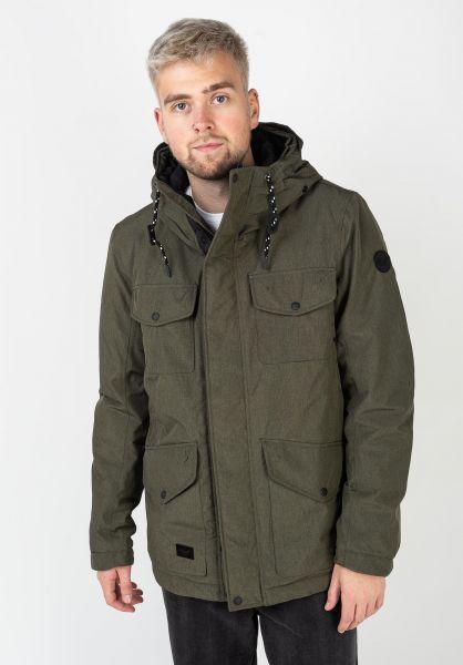 Reell Winterjacken Field Jacket 2 olivemelange vorderansicht 0250031