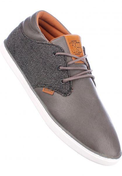 Djinns Alle Schuhe MidLau Harris Tweed grey Vorderansicht