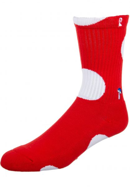 Psockadelic Socken Shroom red-white vorderansicht 0631740