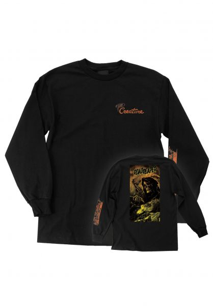 Creature Longsleeves Roadside Terror L/S black vorderansicht 0383982