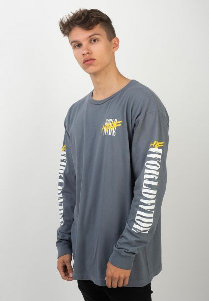 HUF Longsleeves Action Hero bluemirage vorderansicht 0383514