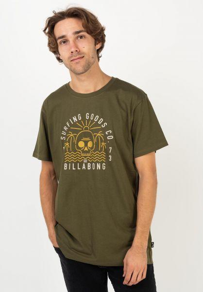 Billabong T-Shirts Road End military vorderansicht 0322645