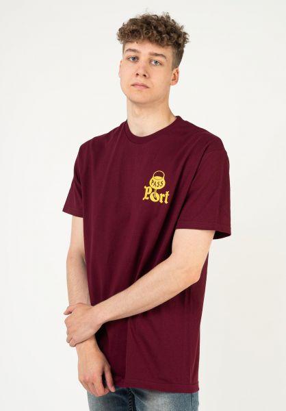 Passport Skateboards T-Shirts Port burgundy vorderansicht 0324203