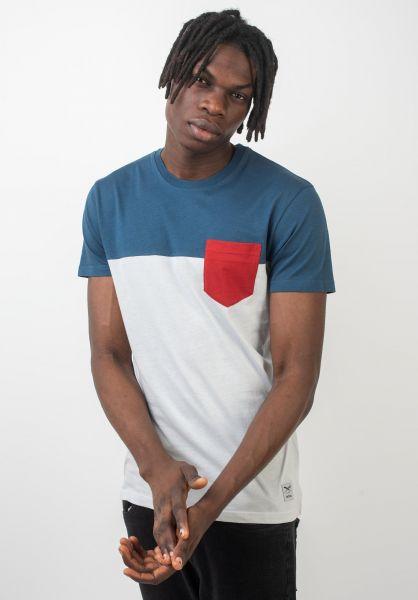 iriedaily T-Shirts Block Pocket silvergrey vorderansicht 0394022