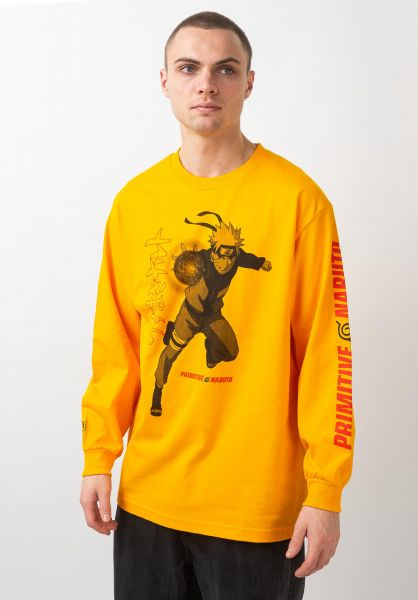 Primitive Skateboards Longsleeves x Naruto Jutsu gold vorderansicht 0383566