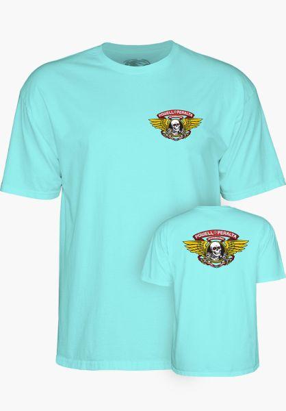 Powell-Peralta T-Shirts Winged Ripper celadon vorderansicht 0360934