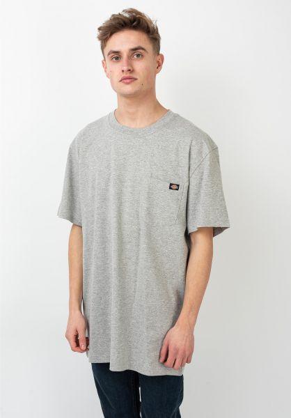 Dickies T-Shirts Porterdale heathergrey vorderansicht 0321323