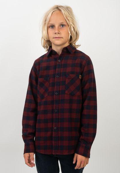TITUS Hemden Adam Kids navy-burgundy-checked vorderansicht 0411385