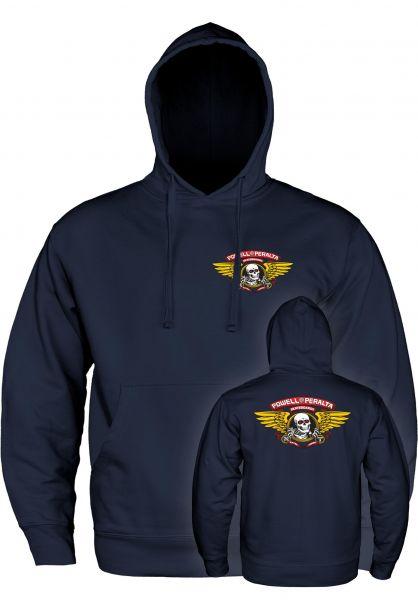 Powell-Peralta Hoodies Winged Ripper Medium Weight navy vorderansicht 0444689