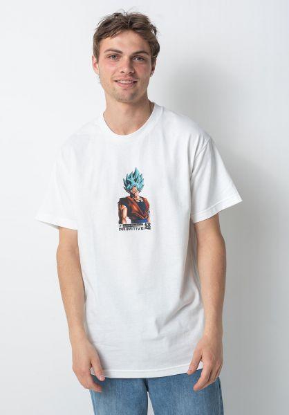 Primitive Skateboards T-Shirts x DBZ Shadow Goku white vorderansicht 0322229