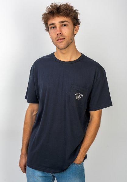 Rip Curl T-Shirts Organic Pocket darkblue vorderansicht 0320634