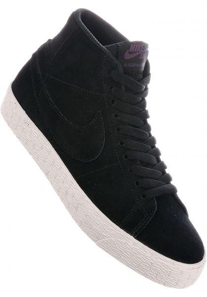 premium selection 59c0b 0bf19 Nike SB Alle Schuhe Blazer Mid Deconstructed Wmn black-black-propurple  Vorderansicht
