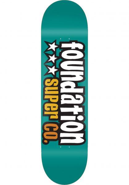 Foundation Skateboard Decks 3 Star teal vorderansicht 0264514