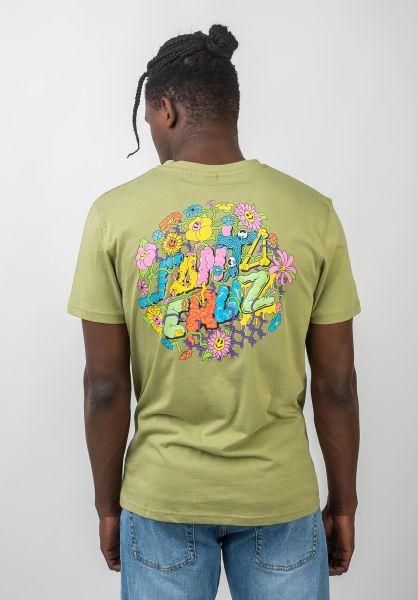 Santa-Cruz T-Shirts Baked Dot sage vorderansicht 0320436