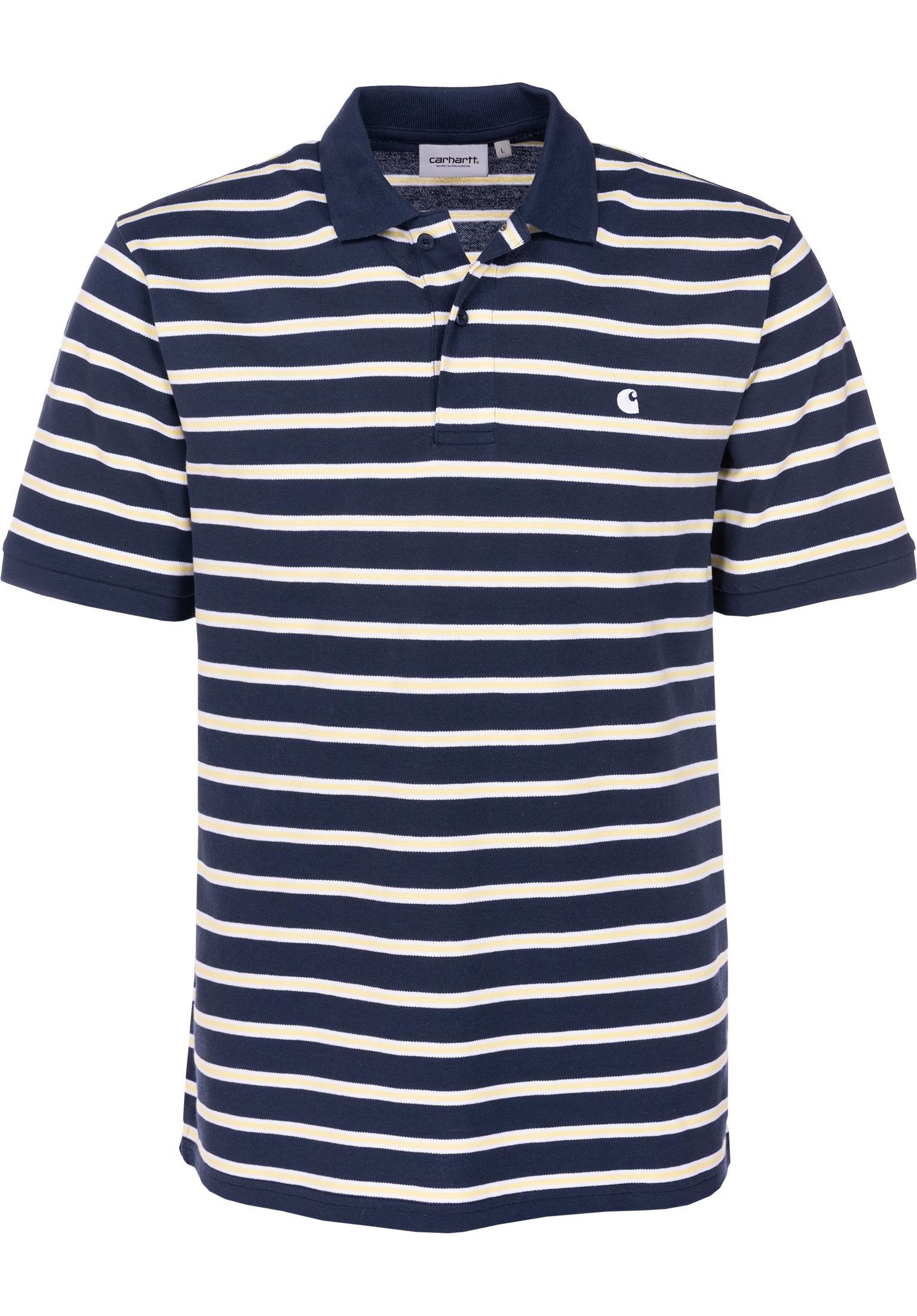 Houston Polo Carhartt Wip Polo Shirts In Houstonstripe Blue Fur