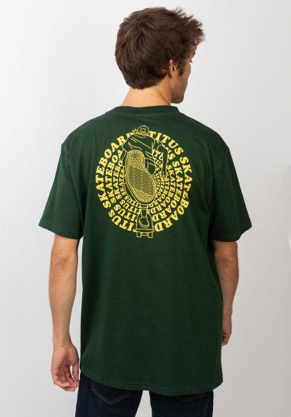TITUS T-Shirts Naim greenheather vorderansicht 0399268