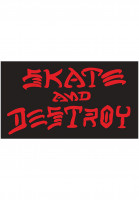 Thrasher-Verschiedenes-Skate-and-Destroy-Small-Sticker-black-Vorderansicht