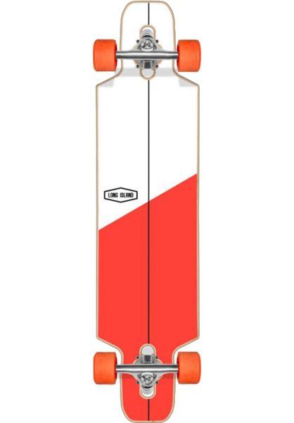 Long Island Longboards komplett Cross Essential 37´´ DT white-red vorderansicht 0194325